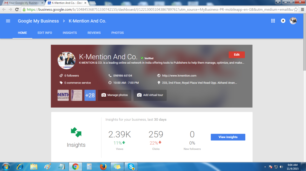 Kmention View on Google 1