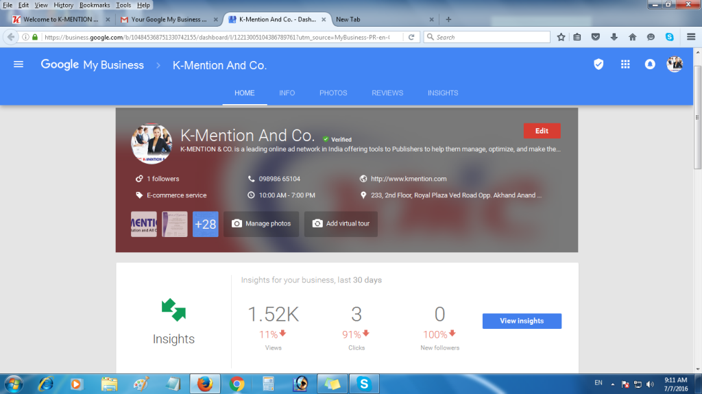 Google Review for KMention1